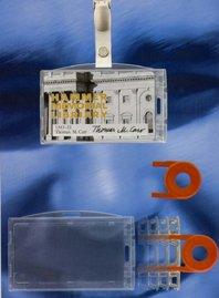Porta badge policarbonatoza